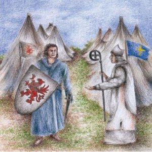 Illustration Greif und Kreuz
